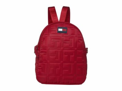 Tommy Hilfiger Tommy Red Jules Smooth Nylon Crossbody Backpack