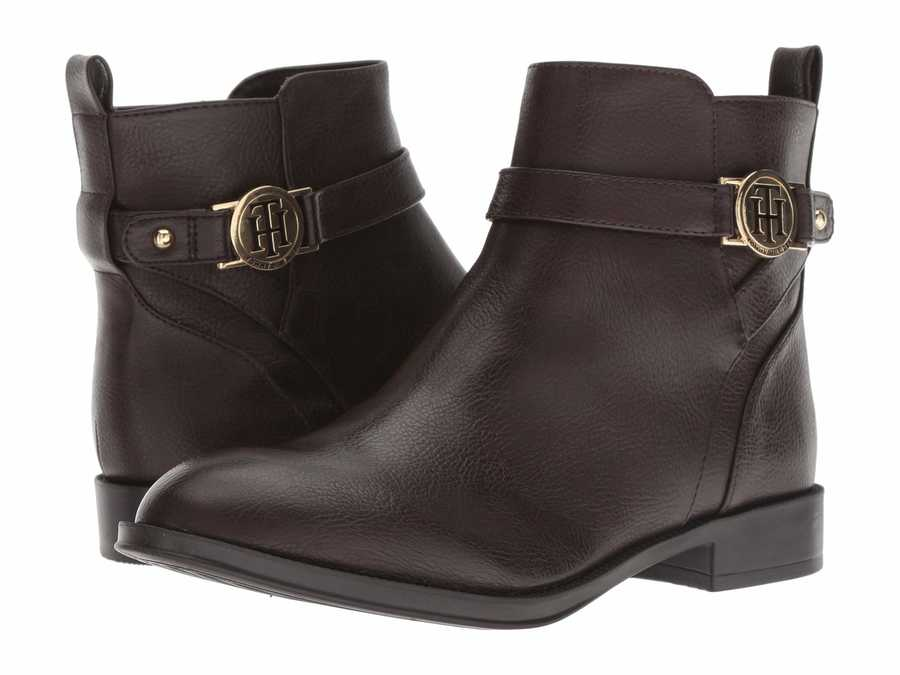 Tommy Hilfiger Women Dark Brown Rumore Ankle Bootsbooties