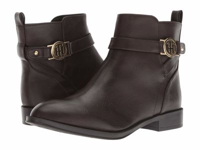 Tommy Hilfiger - Tommy Hilfiger Women Dark Brown Rumore Ankle Bootsbooties