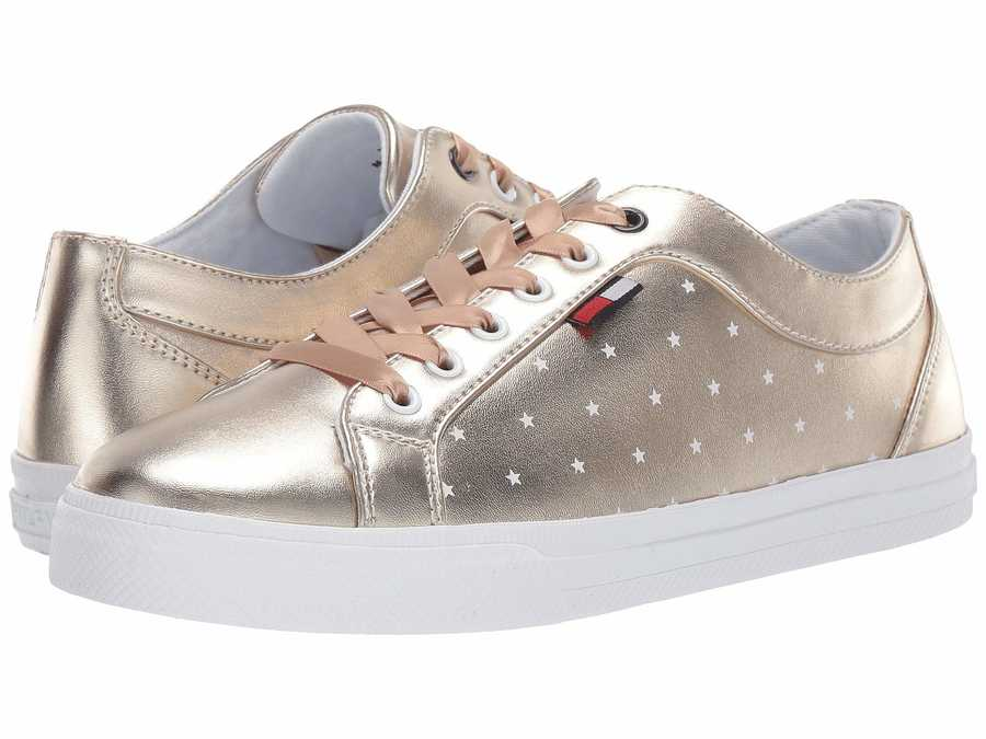 Tommy Hilfiger Women Gold Layton Lifestyle Sneakers