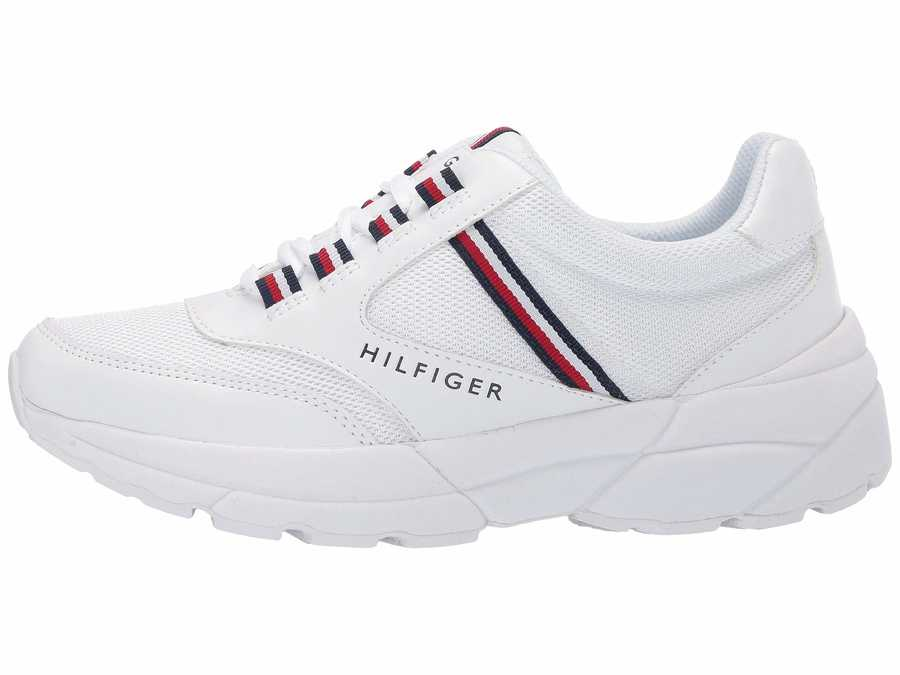Tommy Hilfiger Women White Ernie Lifestyle Sneakers