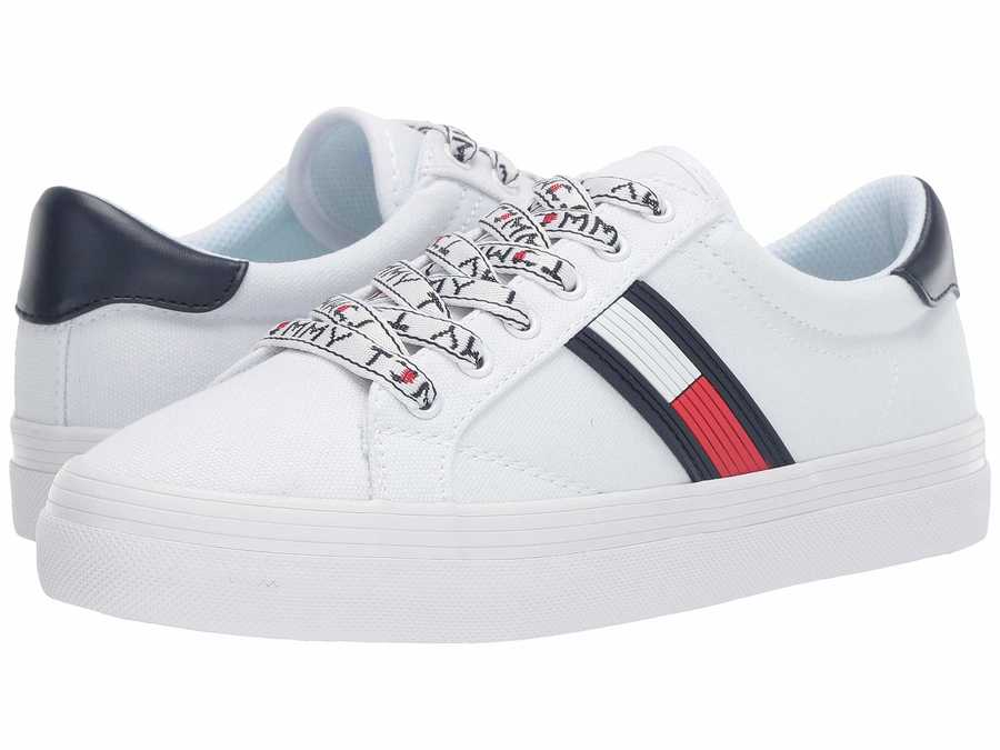 Tommy Hilfiger Women White Fantim Lifestyle Sneakers