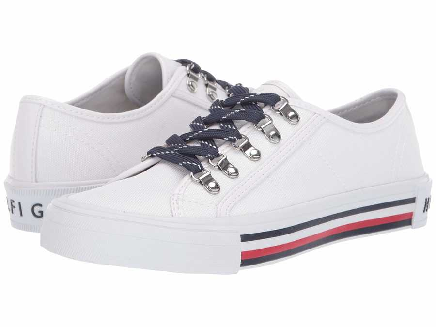 Tommy Hilfiger Women White Hill Lifestyle Sneakers