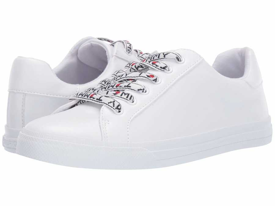 Tommy Hilfiger Women White Leania 3 Lifestyle Sneakers