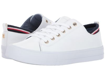 Tommy Hilfiger - Tommy Hilfiger Women White Pu Two Lifestyle Sneakers