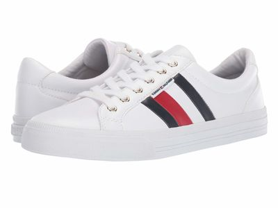 Tommy Hilfiger - Tommy Hilfiger Women White/Marine/Tropic Red Lightz Lifestyle Sneakers