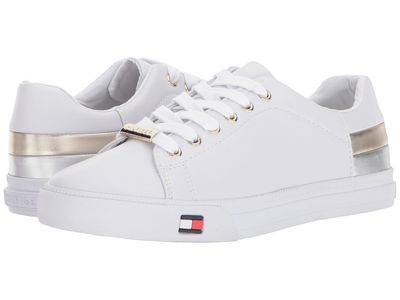 Tommy Hilfiger - Tommy Hilfiger Women White/Silver/Gold Laddi Lifestyle Sneakers