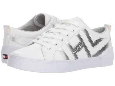 Tommy Hilfiger - Tommy Hilfiger Women White/Silver Pema Lifestyle Sneakers