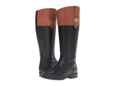 Tommy Hilfiger - Tommy Hilfiger Women's Black/Tan Shano-WC Knee High Boots