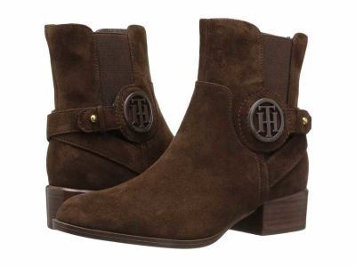 Tommy Hilfiger - Tommy Hilfiger Women's Chocolate Mavrick Ankle Boots Booties