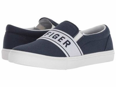 Tommy Hilfiger - Tommy Hilfiger Women's Medium Blue Fabric Logane 2 Lifestyle Sneakers