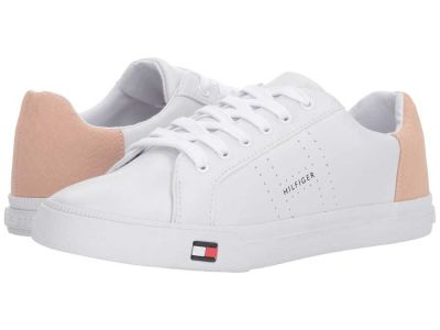 Tommy Hilfiger - Tommy Hilfiger Women's White/Capria Lune Sneakers Athletic Shoes 8990226729953