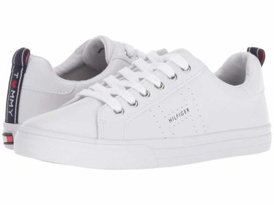 Tommy Hilfiger - Tommy Hilfiger Women's White Leather Lelita Lifestyle Sneakers