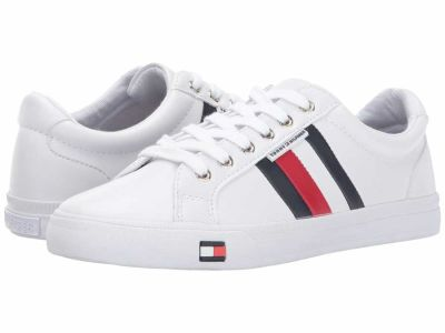 Tommy Hilfiger - Tommy Hilfiger Women's White/Marine/Tropic Red Lightz Sneakers Athletic Shoes