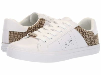 Tommy Hilfiger - Tommy Hilfiger Women's White Multi Lorio Lifestyle Sneakers