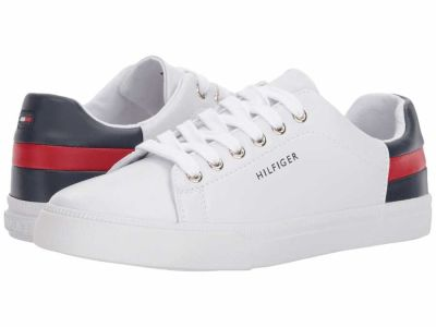 Tommy Hilfiger - Tommy Hilfiger Women's White Red Deep Baltic Laddin Lifestyle Sneakers