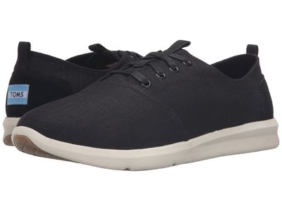Toms - Toms Men Black Linen Del Rey Lifestyle Sneakers