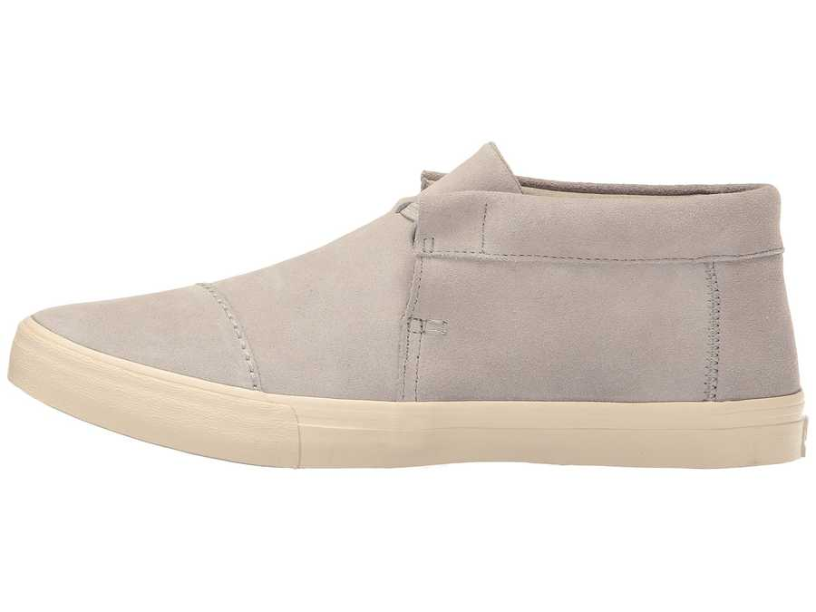 Toms Men Drizzle Grey Suede Emerson Mid Sneaker Lifestyle Sneakers
