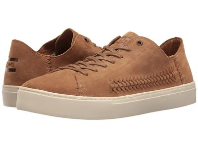 Toms - Toms Men Toffee Suede/Woven Panel Lenox Sneaker Lifestyle Sneakers