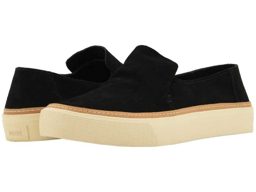 Toms Women Black Suede Sunset Lifestyle Sneakers
