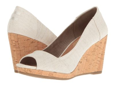 Toms - Toms Women Natural Yarn-Dye Stella Wedge Wedge Heels