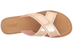 Toms Women Rose Gold Specchio Viv Flat Sandals - Thumbnail