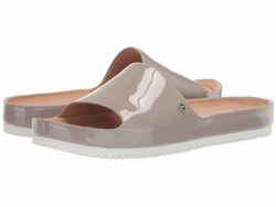 Ugg Women Oyster Jane Patent Flat Sandals - Thumbnail