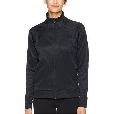 Under Armour - Under Armour Black/Black/Tonal Synthetic Fleece Full Zip