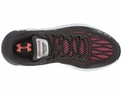 Under Armour Women Jet Gray/Peach Plasma/Jet Gray Ua Charged Rogue Running Shoes - Thumbnail