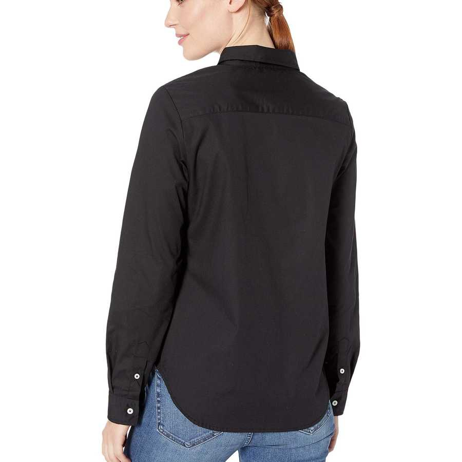 U.S. Polo Assn. Anthracite Long Sleeve Solid Woven Shirt