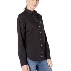 U.S. Polo Assn. Anthracite Long Sleeve Solid Woven Shirt - Thumbnail