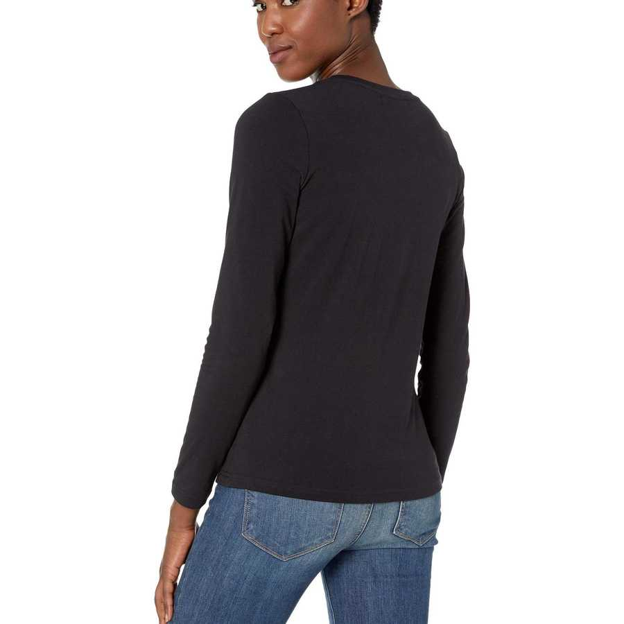 U.S. Polo Assn. Anthracite Solid Long Sleeve Stretch Tee