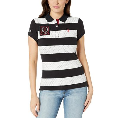 U.S. Polo Assn. - U.S. Polo Assn. Anthracite/Stripe Striped Fashion Polo