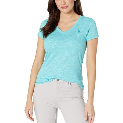 U.S. Polo Assn. Astral Turquoise Spacedye Tee