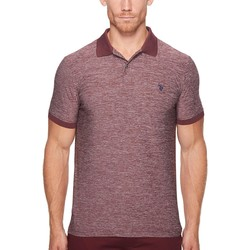 U.S. Polo Assn. Autumn Wine Classic Fit Solid Short Sleeve Poly Pique Polo Shirt - Thumbnail