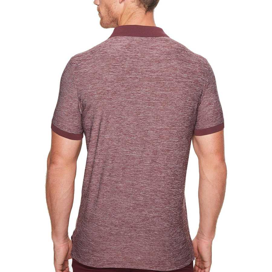 U.S. Polo Assn. Autumn Wine Classic Fit Solid Short Sleeve Poly Pique Polo Shirt