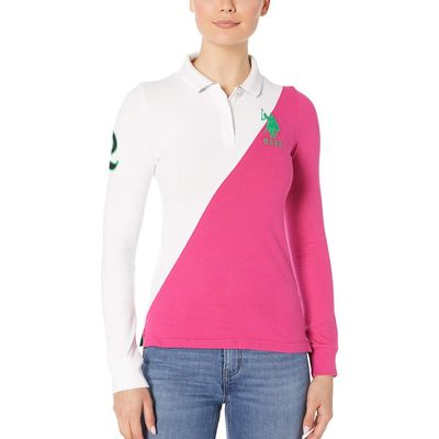 U.S. Polo Assn. - U.S. Polo Assn. Berry Bug Splice Long Sleeve Polo