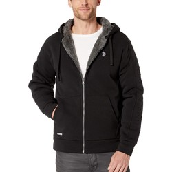 U.S. Polo Assn. Black Embossed Wordmark Hoodie - Thumbnail