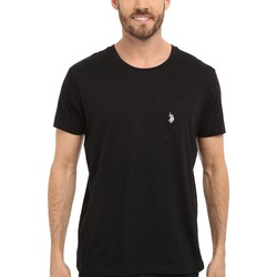 U.S. Polo Assn. Black Solid Crew Neck Pocket T-Shirt - Thumbnail