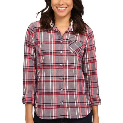 U.S. Polo Assn. - U.S. Polo Assn. Blackberry Cordial Plaid Poplin Casual Shirt