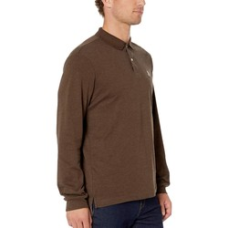 U.S. Polo Assn. Brown Heather Long Sleeve Solid Interlock - Thumbnail