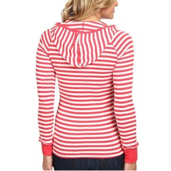 U.S. Polo Assn. Cajun Coral Baby Rib Cotton Striped Pullover Hoodie - Thumbnail