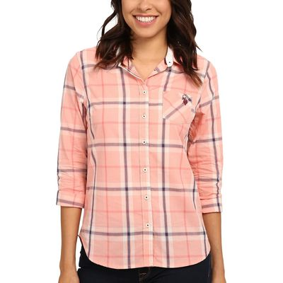 U.S. Polo Assn. - U.S. Polo Assn. Candlelight Peach Plaid Poplin Shirt