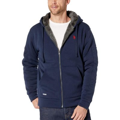 U.S. Polo Assn. - U.S. Polo Assn. Classic Navy Embossed Wordmark Hoodie