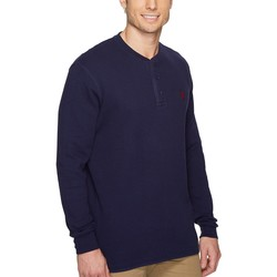 U.S. Polo Assn. Classic Navy Long Sleeve Thermal Henley Shirt - Thumbnail
