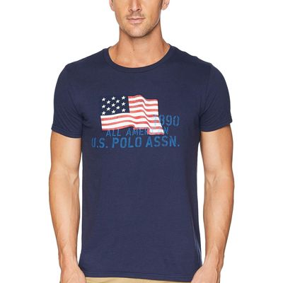 U.S. Polo Assn. Classic Navy Uspa Flag Chest Crew Tee