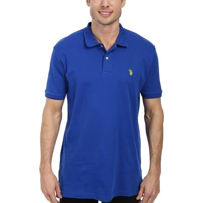 U.S. Polo Assn. - U.S. Polo Assn. Cobalt Blue Solid Interlock Polo