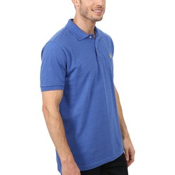 U.S. Polo Assn. Cobalt Heather Solid Cotton Pique Polo With Small Pony - Thumbnail