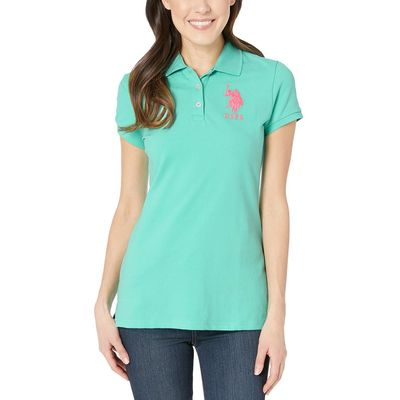 U.S. Polo Assn. Cool Breeze Neon Logos Short Sleeve Polo Shirt
