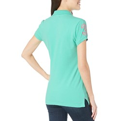 U.S. Polo Assn. Cool Breeze Neon Logos Short Sleeve Polo Shirt - Thumbnail